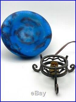 ROBJ Paris Lampe Veilleuse en pate de verre époque Art Déco