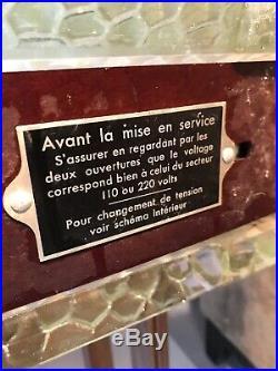 Radiateur Art Deco Signe Saint Gobain Verre Rene Coulon Lampe Lustre Muller
