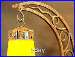 Rare Grande Lampe Lune Ancienne Le verre Français Schneider Brandt 1930 Art deco