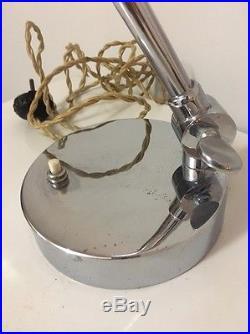 Rare Lampe De Bureau Art Deco Design Hendrik Gispen Modèle 405 Hollande