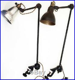 Rare Lampe GRAS 201 Bielle Plate SGDG Art Deco Bauhaus Factory Table Lamp 1920