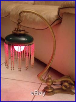 Rare Lampe à Pampilles Art deco de Maison Close Lamp Art deco of Closed House