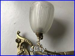 Rare Support Étagère Lampe Art Deco Sonover Vasque Muller Degue Daum Lustre