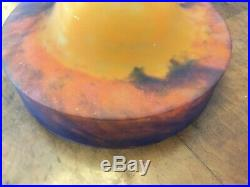 Rare Vasque Lustre Art Deco Signe Muller Lampe 1930 Tulipe Obus Degue Maynadier