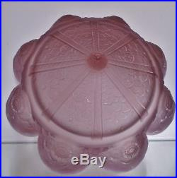 Rare Vasque lustre lampe Muller Frères Lunéville Art Déco Verre pressé violet
