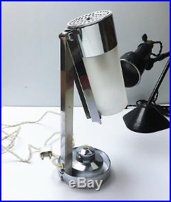 Rare ancienne Lampe BORIS LACROIX MITIS Art Deco Bauhaus Table Lamp 1930 1950