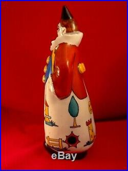Rare ancienne lampe veilleuse porcelaine clown moulin France Roger Limoges