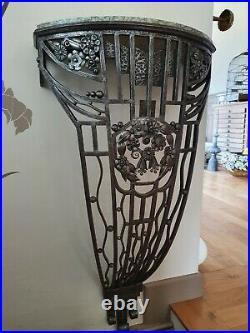 Rare et très belle console d'époque art déco fer forgé dlg Paul Kiss no lampe