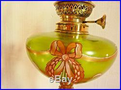 Rare et trés belle lampe à pétrole Epoque Art Nouveau