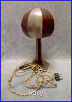 Rare lampe champignon Art déco rhodoïd bakélite moderniste
