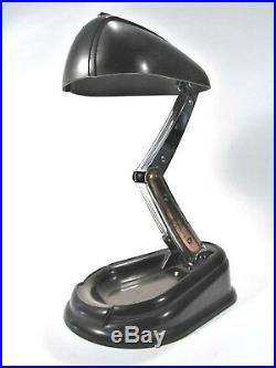 Rare lampe de bureau Lucidus Bloc, modèle Bolide, édition Jumo, Art Déco, 1944