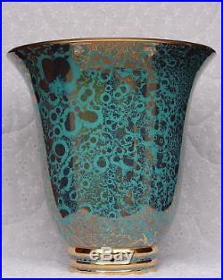 Rare pied de lampe vase céramique vintage art déco Sèvres Jean Mazeaud Faverot