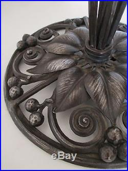 Lampe Art Deco Rare Tres Grand Pied De Lampe Fer Forge Art Deco
