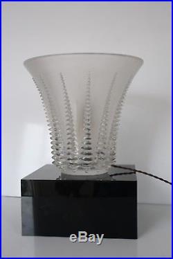 René Lalique Lampe modèle''Font Romeu'' Art Deco (Daum/Gallé/Schneider.)