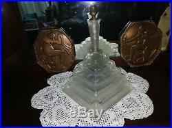 SABINO ART GLASS LAMPE ART DECO CASCADE VERRE DEPOLI LAMP DESIGN DU XXé