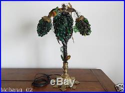 SUPERBE LAMPE MURANO à Décor de Trois GRAPPES de RAISIN en VERRE, Style Art Déco