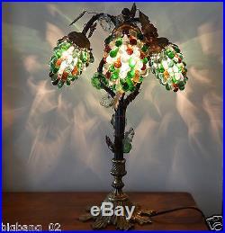 lampe art deco superbe lampe murano d cor de trois grappes de raisin en verre style art d co. Black Bedroom Furniture Sets. Home Design Ideas