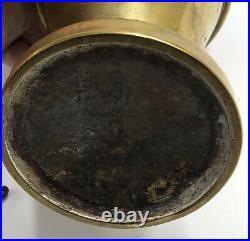 SUPERBE lampe à pétrole essence flamme PIGEON Verre soufflé 1900