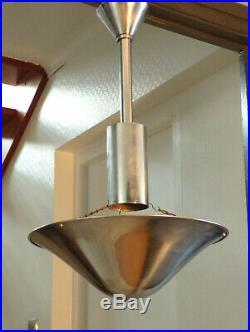 SUSPENSION LAMPE ART DéCO MéTAL chromé 1920-50-BAUHAUS