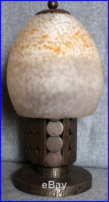 Schneider lampe Art Deco en fer forgé de Katona