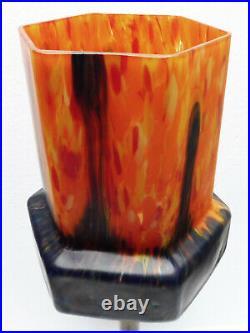 Superbe LAMPE art-déco vers1930 tulipe pâte de verre