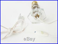 Superbe Lampe Verre & Laiton Art Deco 1920 1930 Vintage 20s 30s