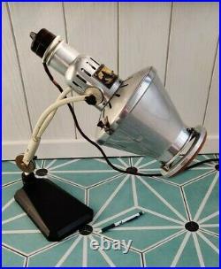 Superbe Lampe Vintage Hanau Sollux Design Industriel Modernist Bauhaus Art Deco