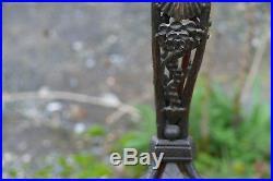 Superbe lampe Art Déco fer forgé -DLG Majorelle Ecole de Nancy -Edgar Brandt