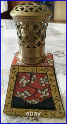 Superbe lampe berger art déco Desvres Fourmaintraux en très bon état