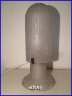 Superbe lampe obus de Daum style Art Deco en parfait état
