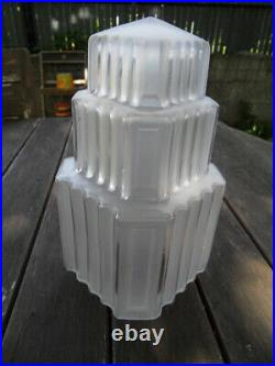 Tulipe abat jour skyscraper art déco pour lustre lampe forme building