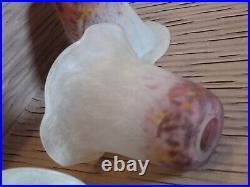 UNITE 1 tulipe DAUM NANCY lustre applique lampe art déco verre marmoréen jaspé