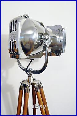 Lampe art deco vintage film lamp industrial floor light for Eames lampe