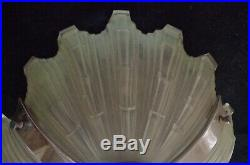 Vasque Pate De Verre Art Deco Lustre Lampe