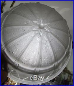 Vasque lustre lampe verre pressé moulé Art Déco Muller Frères Lunéville 1930