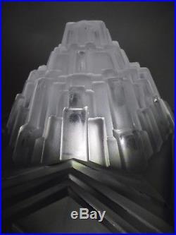 Vasque non percée pour lustre lampe verre moulé building SKYSCRAPER Art Déco