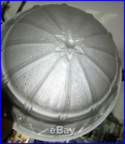 Vasque pour lustre lampe verre pressé Art Déco Muller Frères Lunéville 1930