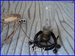 Veilleuse-brule Parfum Degue Era Daum Muller Galle Art Deco Pied Fer Forge Lampe