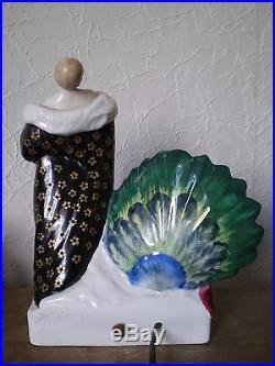 Veilleuse lampe art deco femme 1927 A. KELETY vintage lamp statue sculpture woman