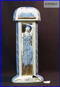 Veilleuse lampe brûle-parfum art déco 2,2kg43cm DUCHAUSSY BERGER femme 1900