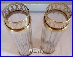 Verre de lampes paire baguettes verre luminaire art déco verrerie A. Duchange
