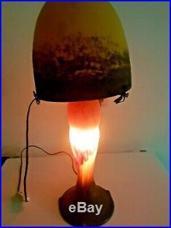 Vintage Lampe champignon en pâte de verre