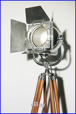 Vintage Théâtre Projecteur ancien art déco industriel Film lampe support 123