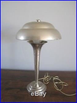 Vintage lampe en métal chromé 1960 art déco