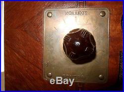 WELLS GARDNER old radio TSF Poste lampes USA Art déco placage bakélite vintage